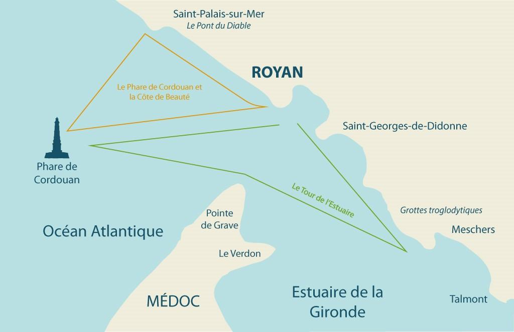 Carte des promenades en mer